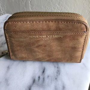 Adrienne Vitadini Brown Leather Wallet NWOT
